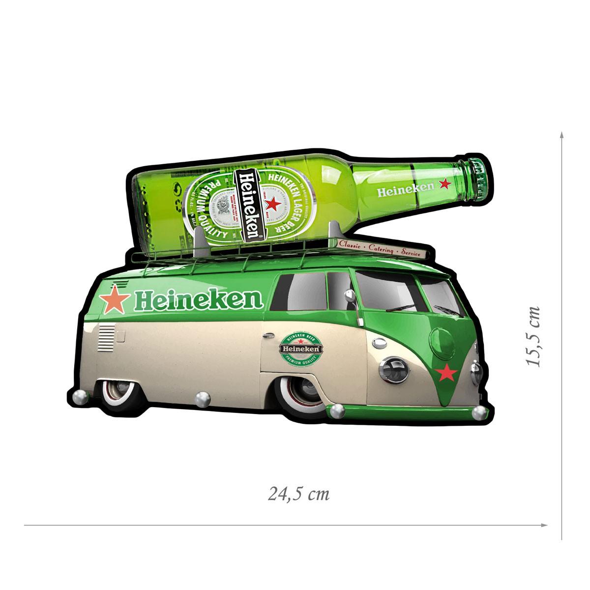 Porta Chaves de Mdf Decorativo Heineken para Parede ou Porta