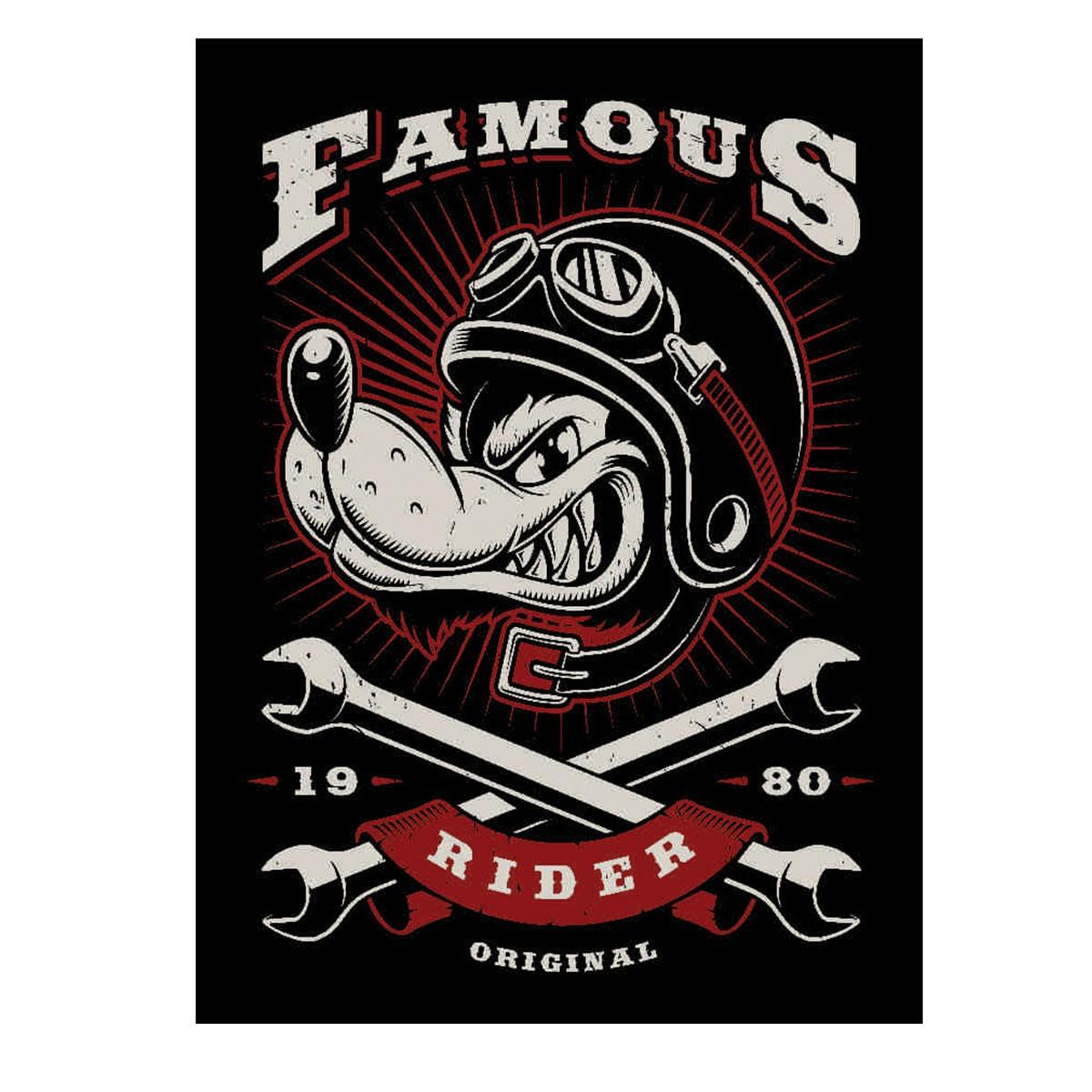 Placa Quadro Decorativo Famous Rider - 20x28cm