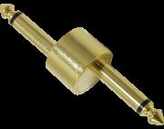Adaptador P10 duplo DLK em Z dourado para pedais cases pedalboards
