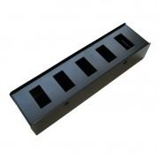 Caixa de chão metalica Penn Elcom para 5 tomadas