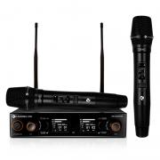 Microfone Kadosh Sistema Sem Fio K-502M Duplo De Mão UHF