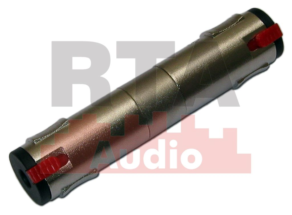 Adaptador jack P10 duplo estéreo com trava