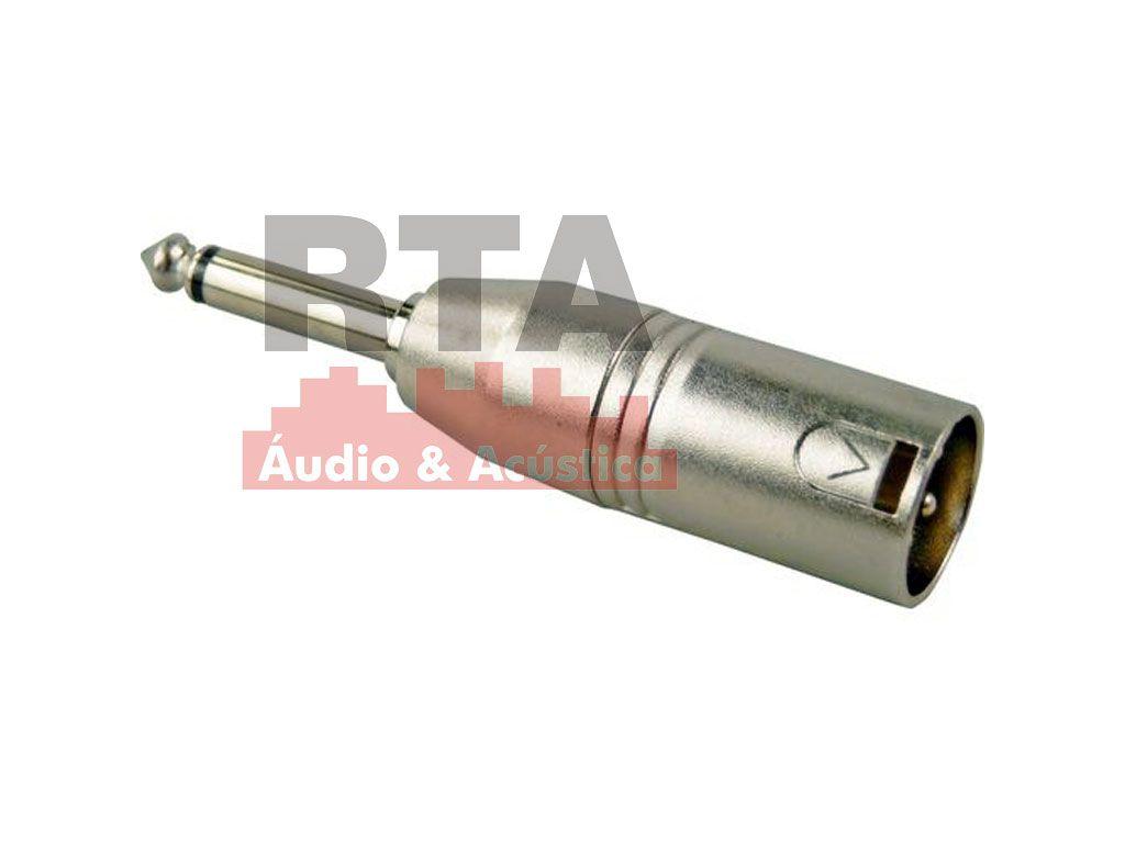 Adaptador XLR (canon) macho X P10 macho mono