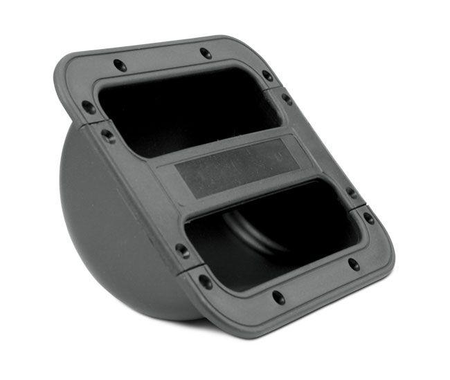 Alça Ludovico de embutir para caixa de som, média com reforço em aço no pegador