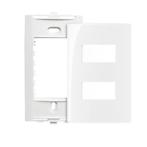 Espelho Mar-Girius linha Sleek placa 4x2 com suporte, diversas configurações