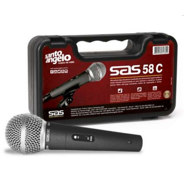 Microfone SAS 58C Santo Angelo
