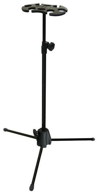 Pedestal Saty PM06 suporte de descanso para 6 microfones com ou sem fio