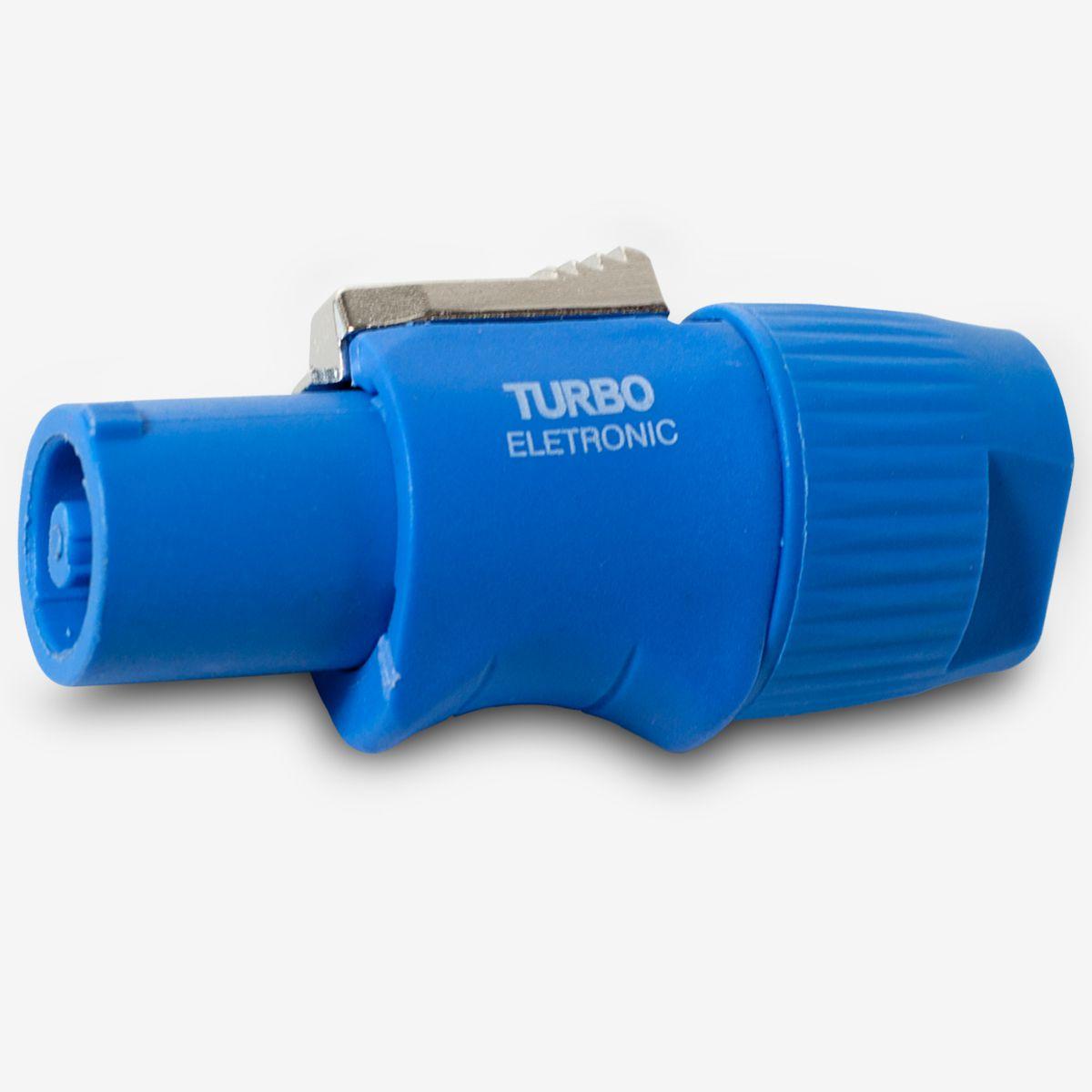 Powercon Turbo azul de linha Q-312