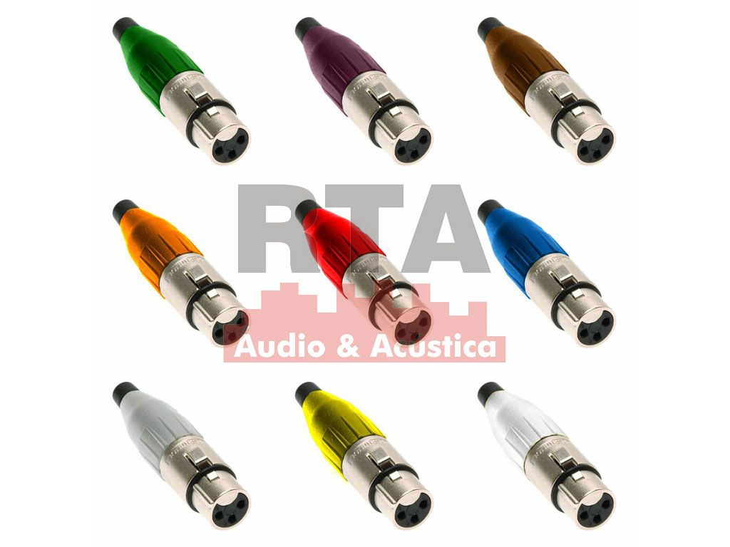 XLR Amphenol capa colorida modelo AC3F fêmea de linha