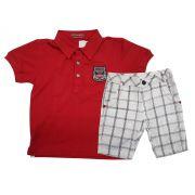 Conjunto Infantil Masculino Polo com Bermuda Gira Baby