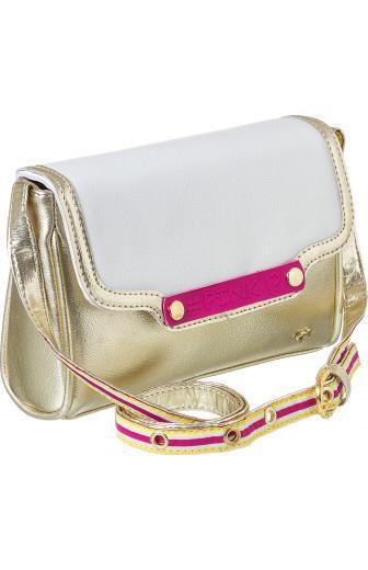bolsa pampili dourada tamanho unico