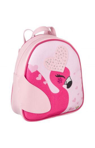 mochila infantil pampili zoo flamingo rosa glace