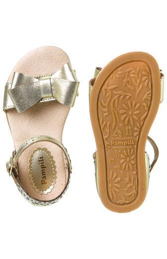 sandalia infantil pampili lara dourada