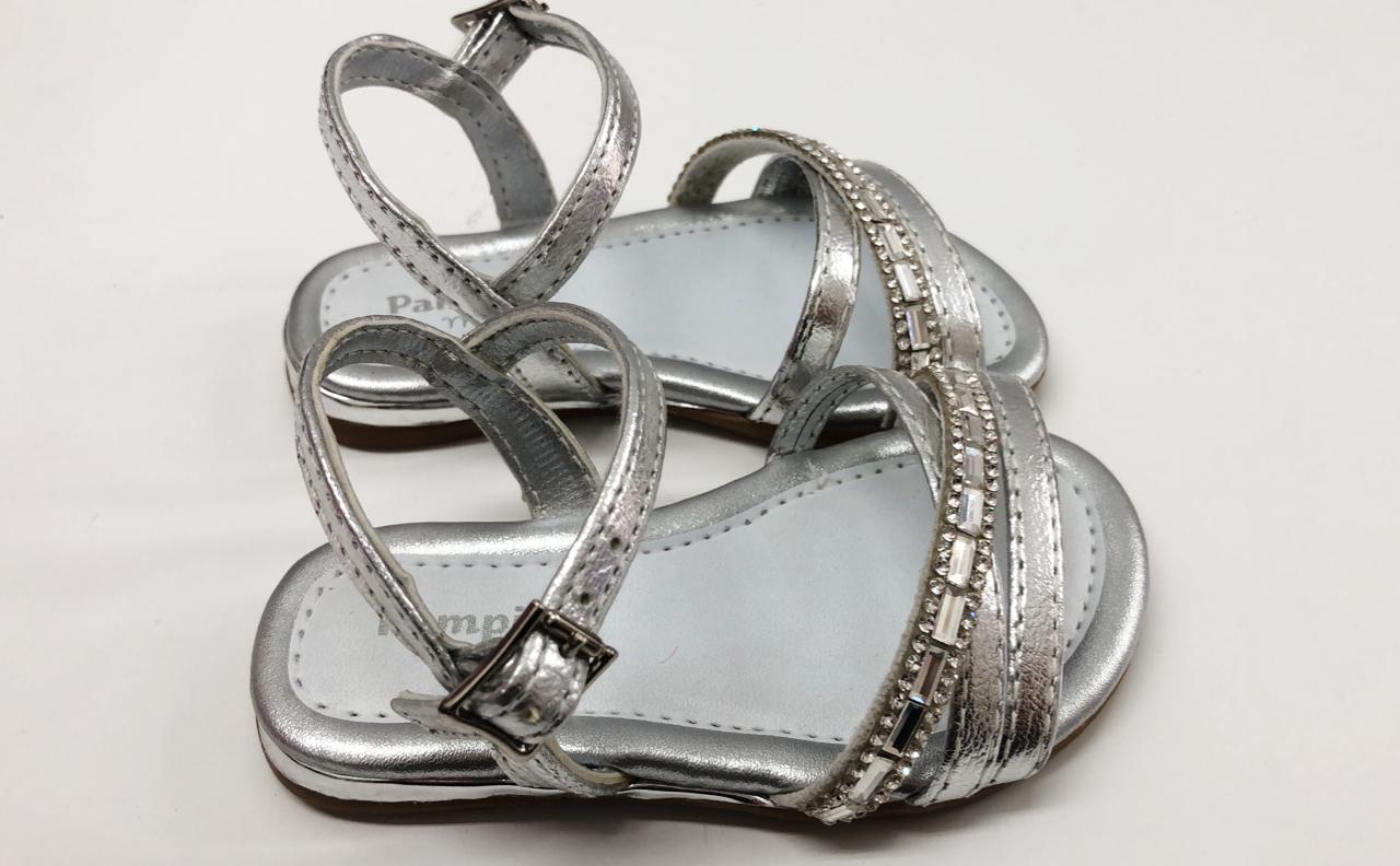 sandália infantil pampili prata