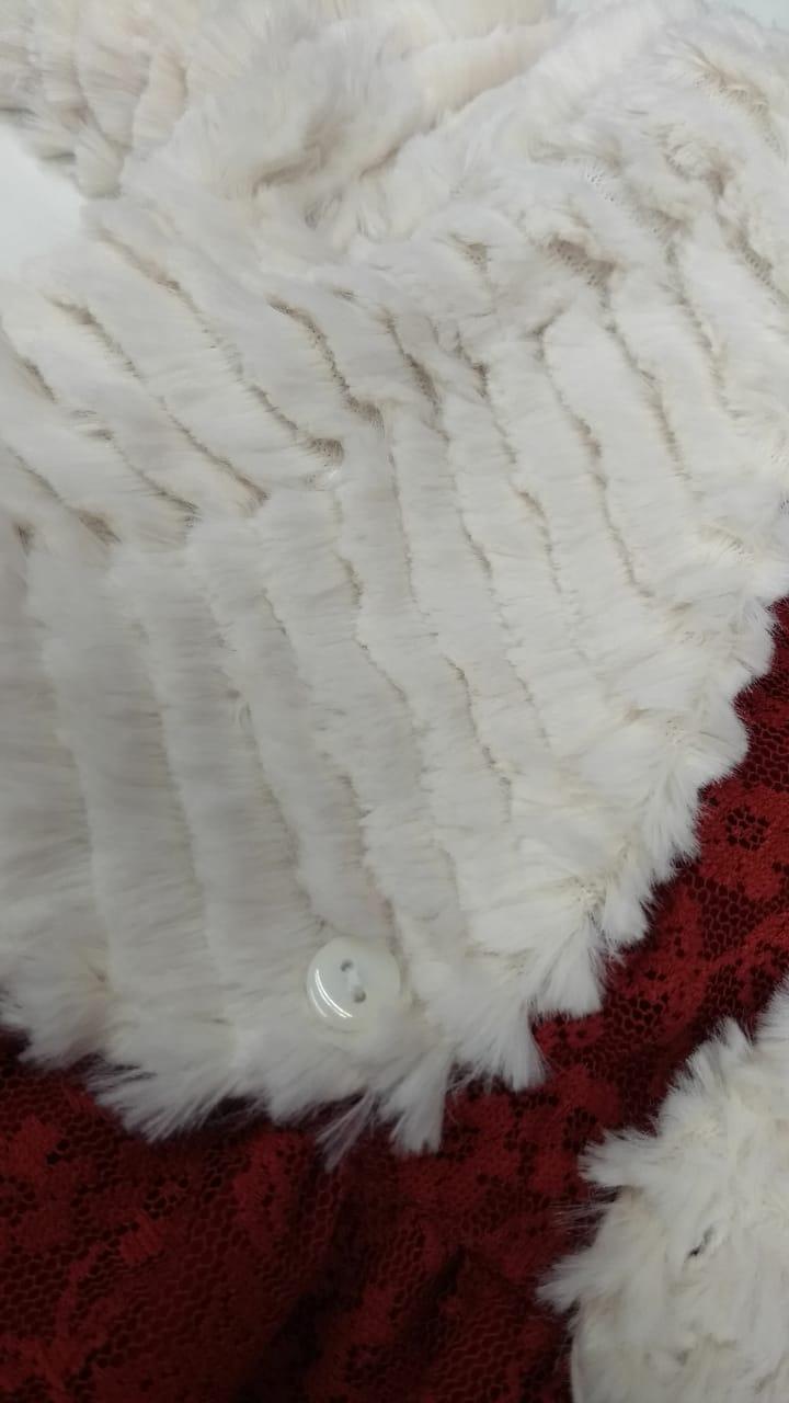 Vestido Infantil de Inverno com Renda Soninho Infantil (Acompanha Faixa de Cabelo)