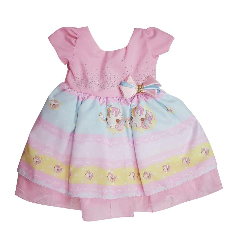 Vestido de Bebê Unicórnio Baila Nina