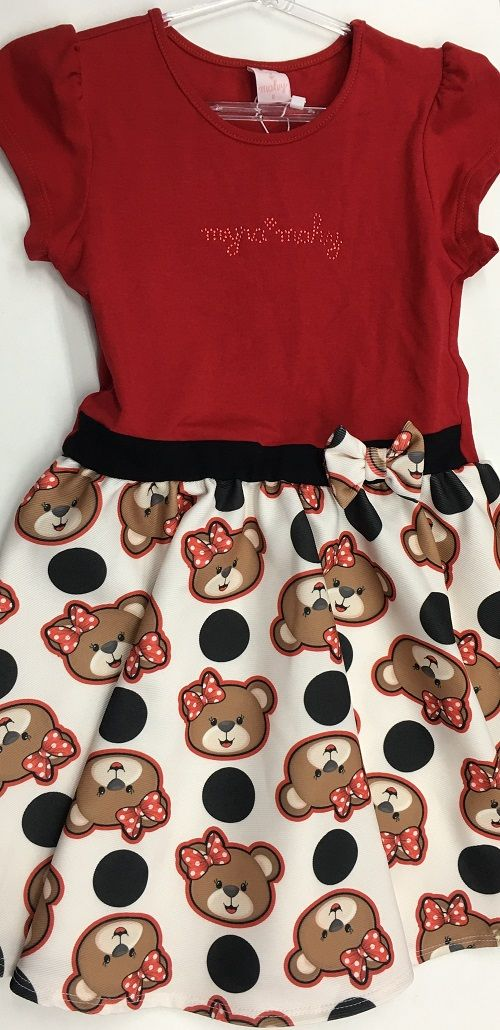 Vestido Infantil Myra Mahy (Acompanha Bolerinho)