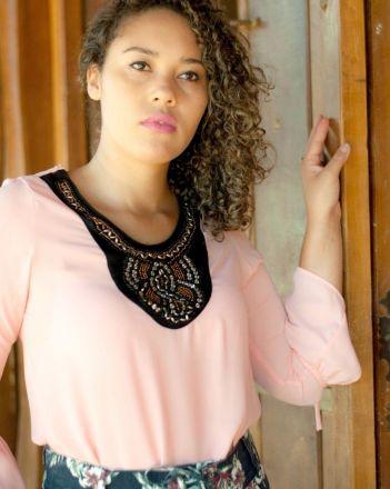2e32d3c937d6 home camisa estampada flare moda evangelicaModa e Vestidos ...