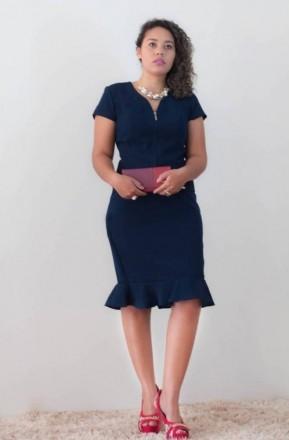 Conjunto Social Azul - Moda Evangelica