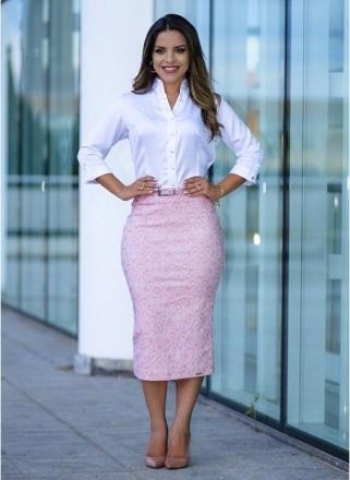03f0b7ce5b saia secretaria cintura alta com cinto sm62838Moda e Vestidos ...