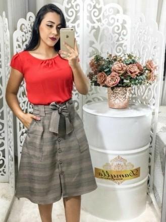 28464da7a Saia Rodada Xadrez Moda Evangelica - Moda e Vestidos Evangélicos com ...