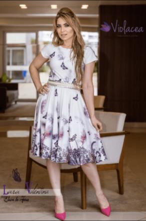 Vestido Jardim das Borboletas Coleção Elaine de Jesus - Moda Evangelica