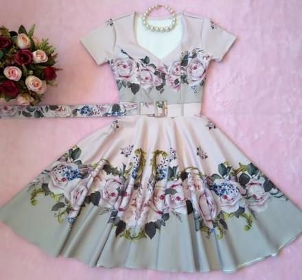 Vestido Midi Harmonia em Rosas  - Moda Evangelica