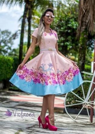 Vestido Midi Passeio no Jardim - Moda Evangelica
