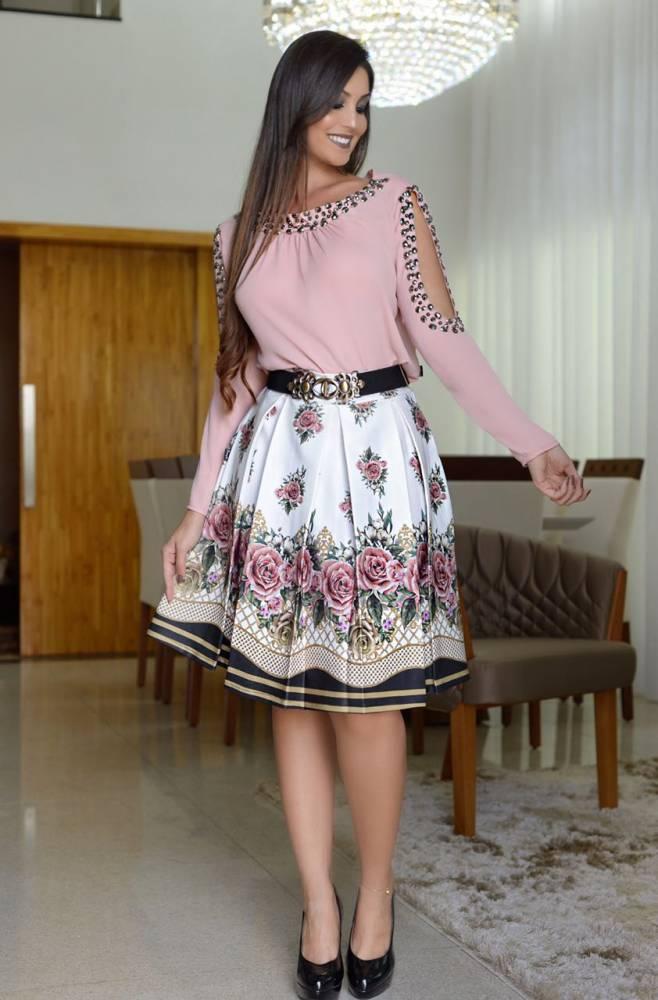 1e6118aff Moda Evangelica - Camisa Bordada com Pedraria