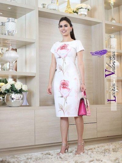 Vestido Lara Valentina Sonho das Rosas - Moda Evangélica