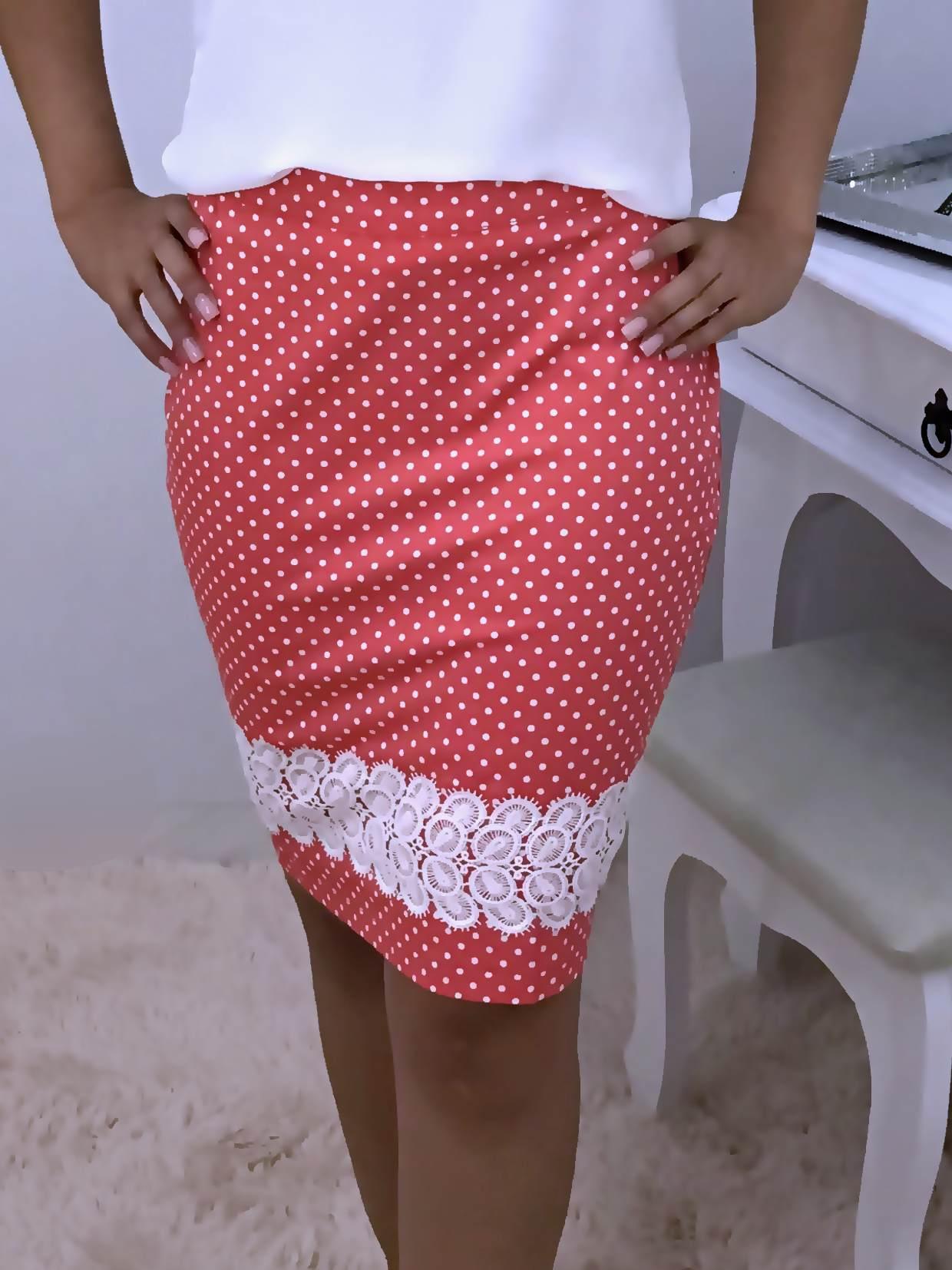 Saia Monia Poá - Moda Evangelica