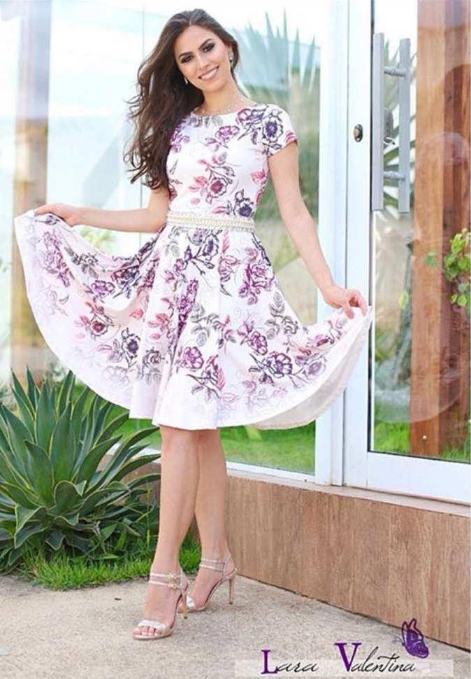 Vestido Carrossel de Flores Coleção Elaine de Jesus