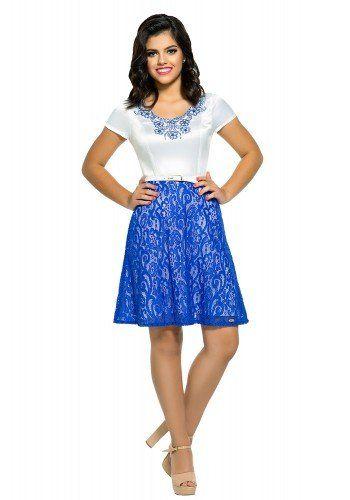 Vestido de Renda Zunna Ribeiro Azul