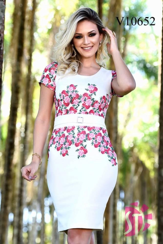 Vestido Justo em Piquet - Sol da Terra - Moda Evangelica