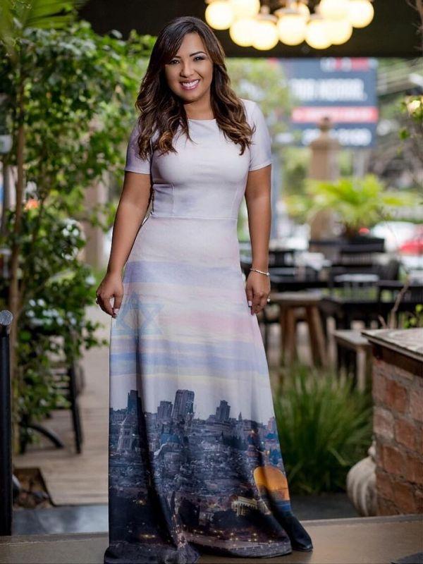 Vestido Lara Valentina Israel Moda Evangelica