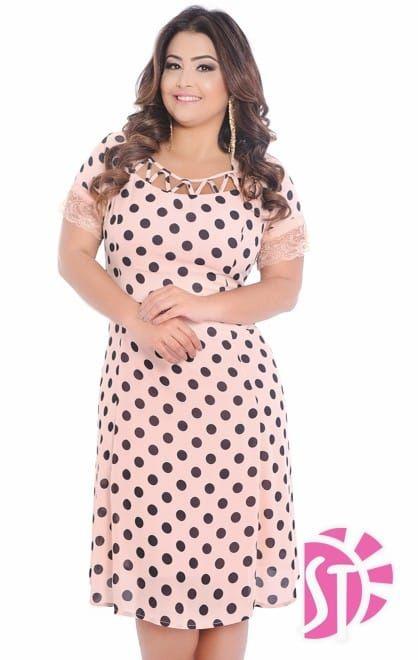 Vestido Plus Size em Crepe Moda Evangélica