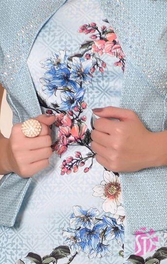 Vestido Sol da Terra Floral com Casaco Moda Evangélica