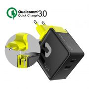 Carregador Celular Rock Viagem Quick Charge 3.0 + Fcp 2 Usb