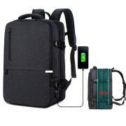 Mochila Antifurto Usb Expansível Notebook Alta Capacidade H1