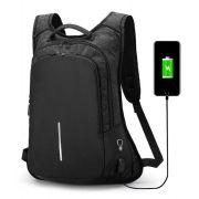 Mochila Antifurto USB Notebook Impermeável Com Cadeado
