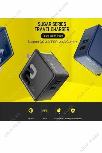 Carregador Celular Rock Viagem Quick Charge 3.0 + Fcp 2 Usb  - KLIZZ