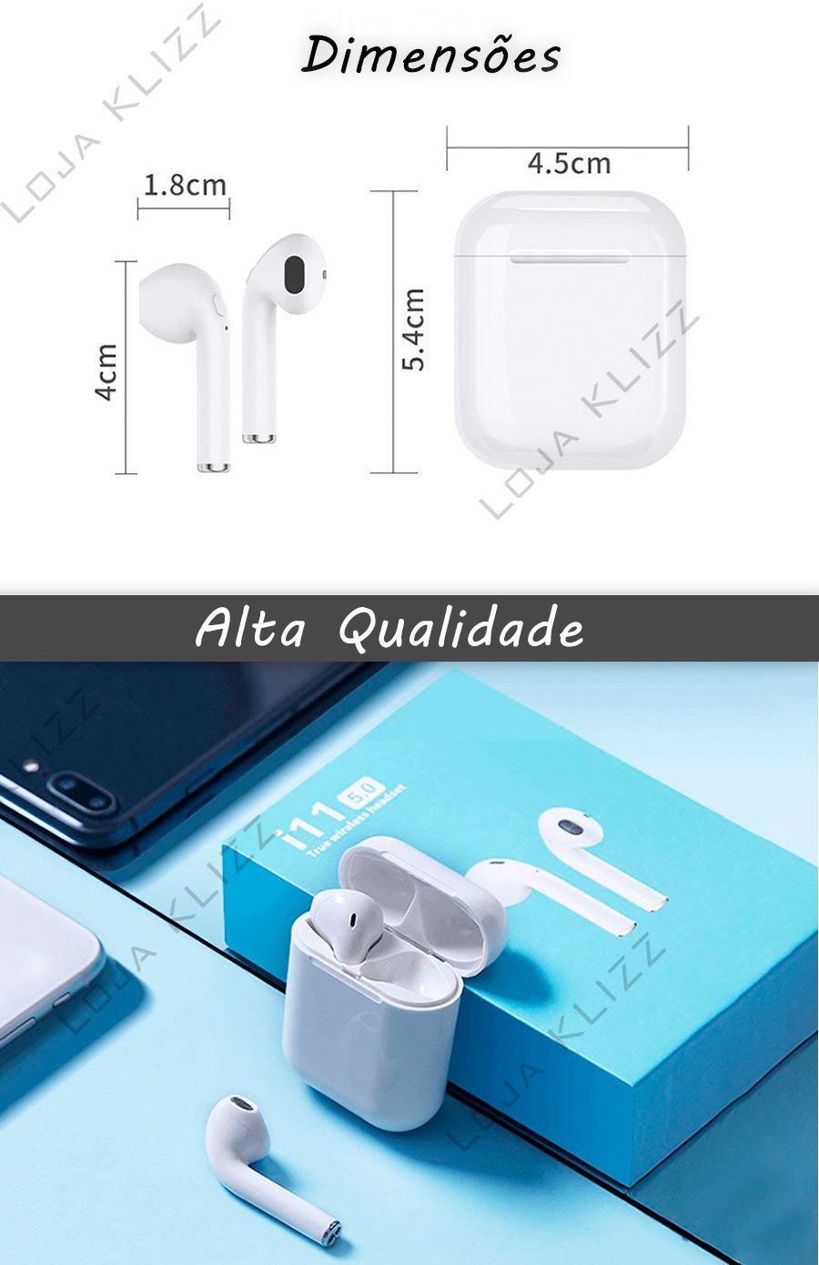 Fone De Ouvido Bluetooth Sem Fio Touch Com Microfone Pro