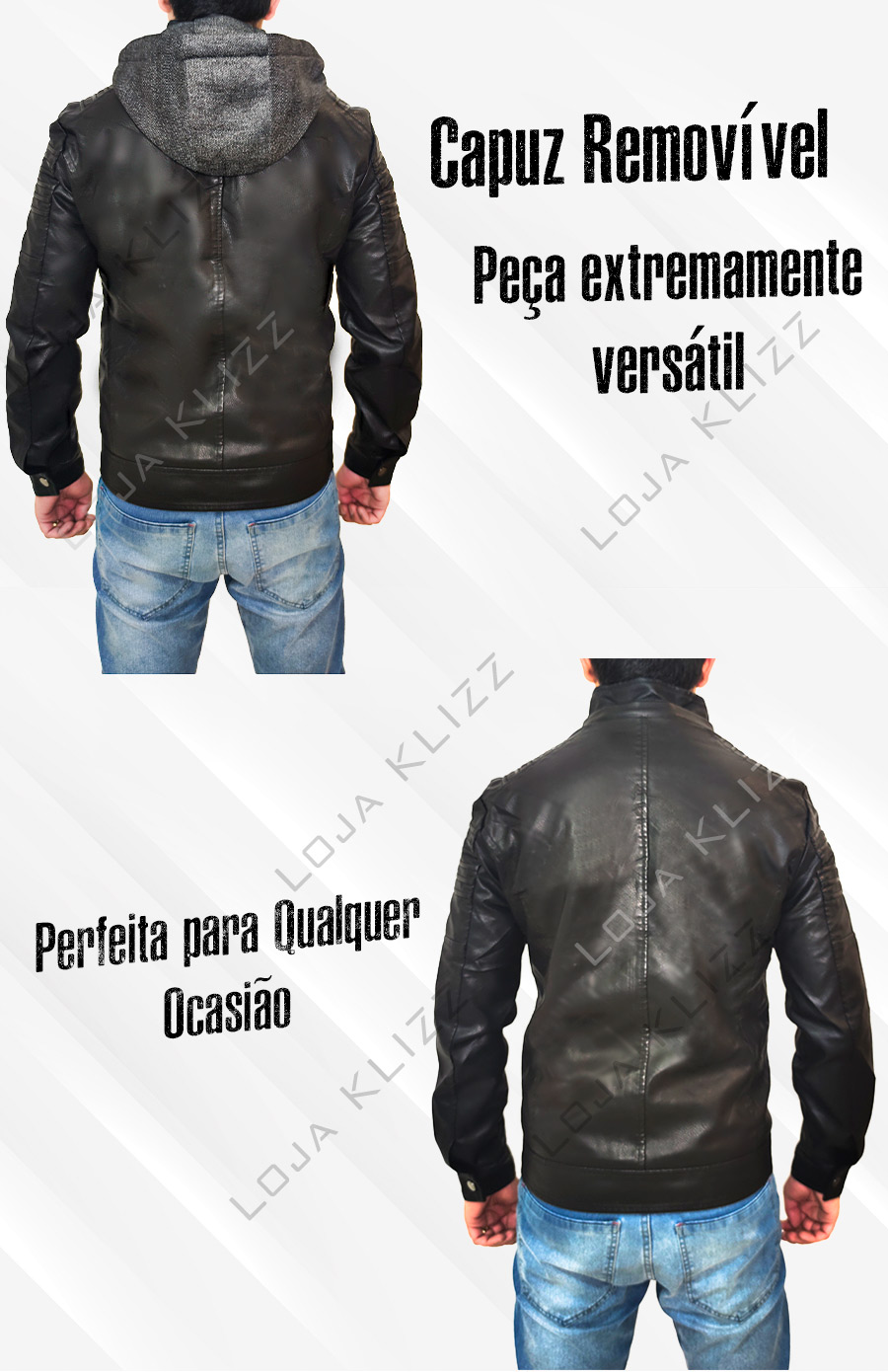 Jaqueta Casaco Couro Masculina Corta Vento Slim Qualidade
