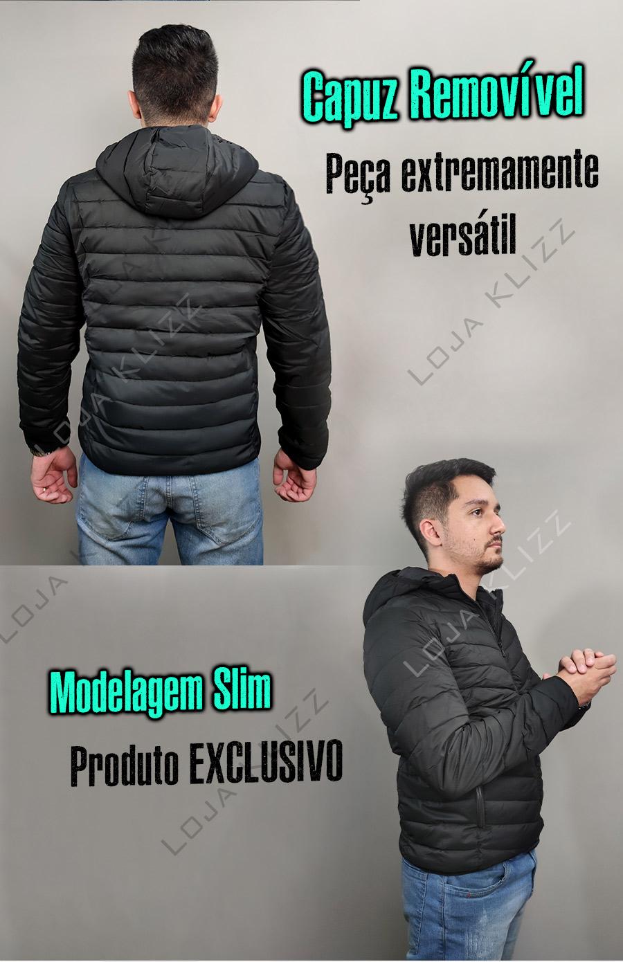 Jaqueta Masculina KLIZZ Hawk Bobojaco Puffer Blusa Casaco