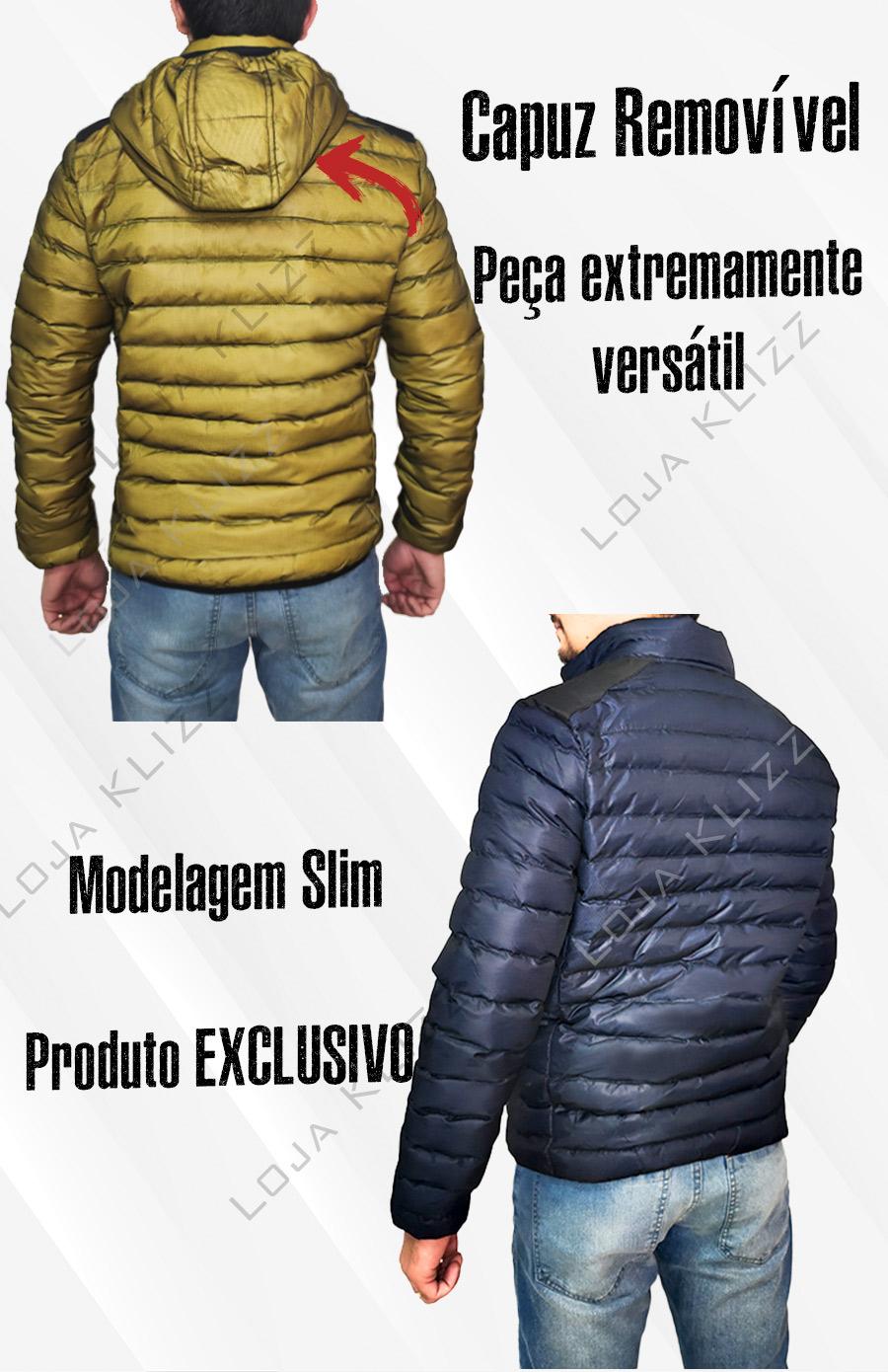 Jaqueta Masculina KLIZZ Street Bobojaco Puffer Blusa Casaco