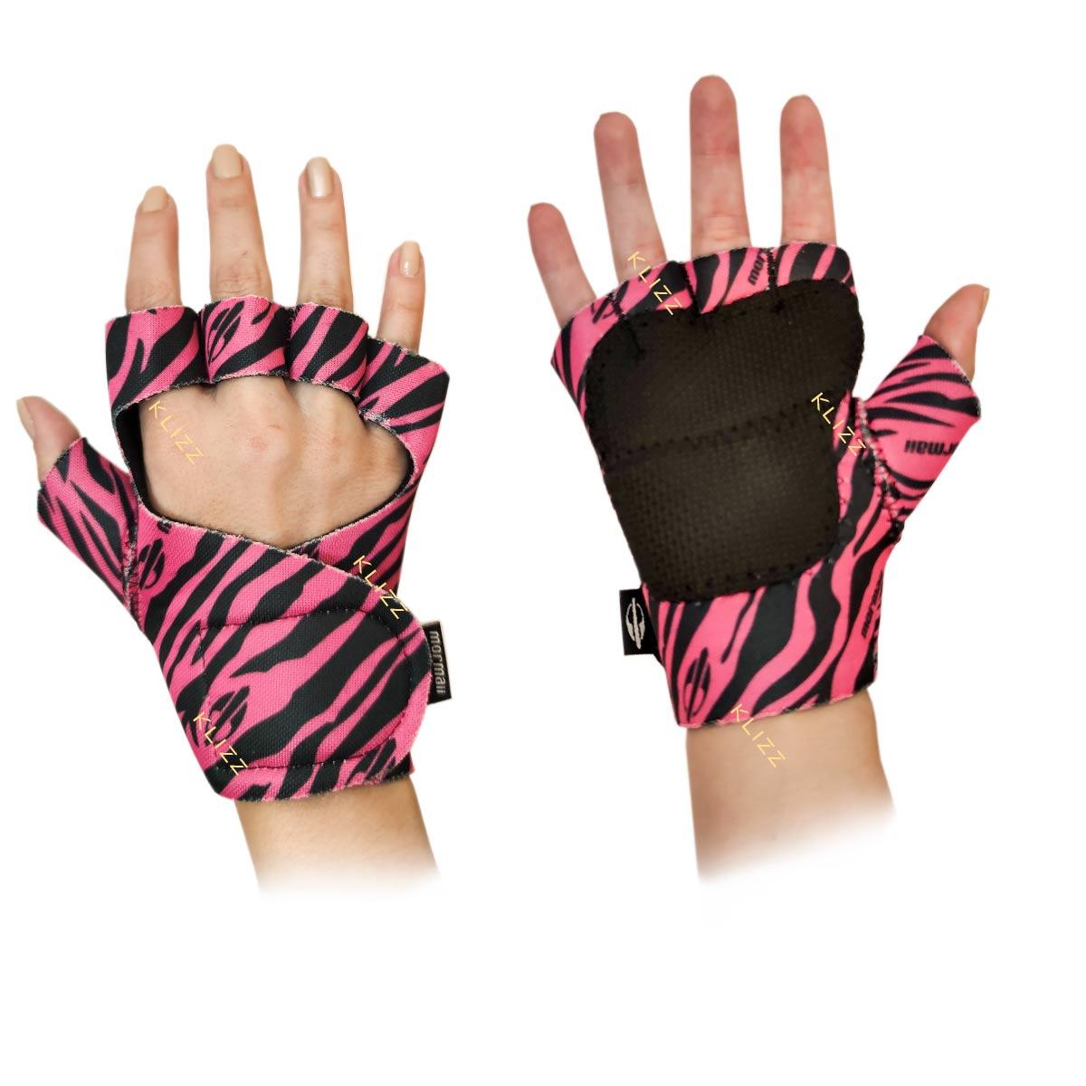 Luva Feminina Mormaii Colors Academia Treino Musculação Zebra Pink