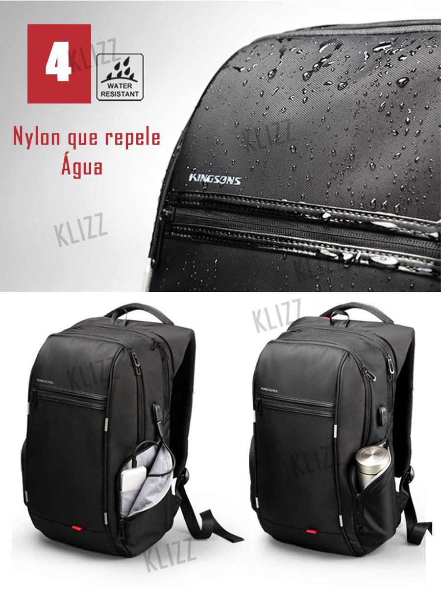 Mochila Antifurto Kingsons Usb Notebook Impermeável Grande Capacidade  - KLIZZ
