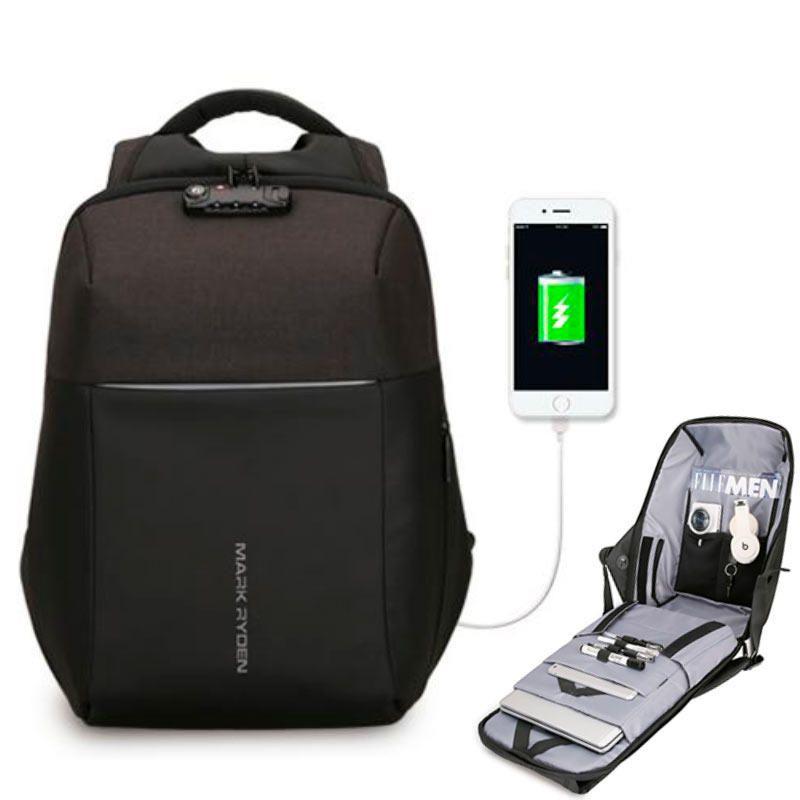 Mochila Antifurto Mark Ryden Com Usb Notebook Cadeado TSA Impermeável  - KLIZZ