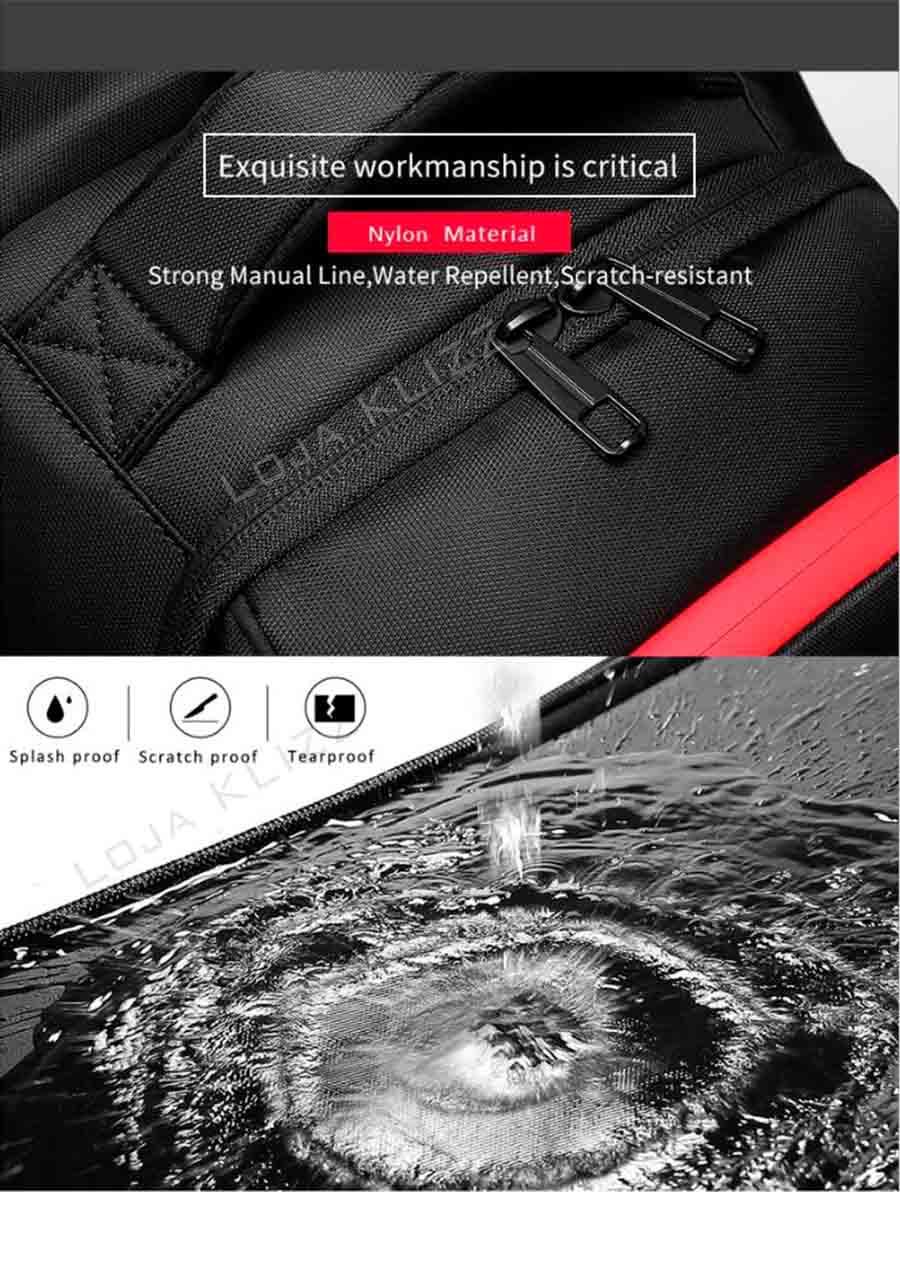 Mochila Antifurto NGR Com Usb Notebook Impermeável Grande Capacidade  - KLIZZ