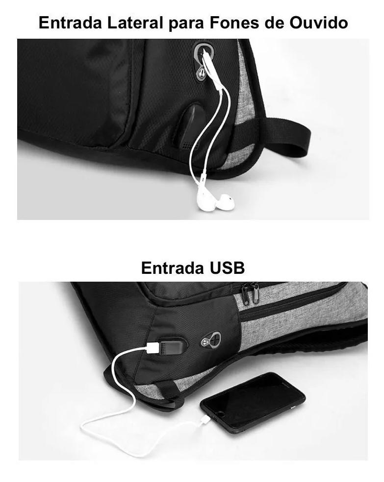 Mochila Antifurto USB Notebook Impermeável Com Cadeado  - KLIZZ
